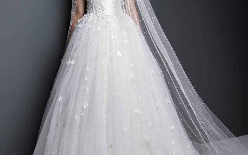لباس عروس با دامن پفدار