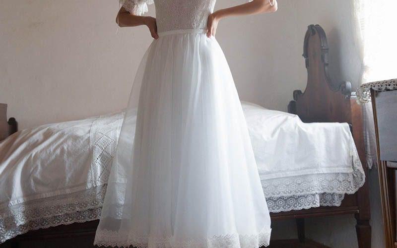 لباس عروس با دامن کوتاه