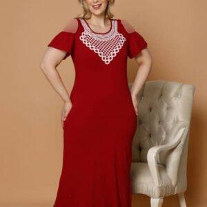 تونیک راحتی زنانه قرمز سایز بزرگ