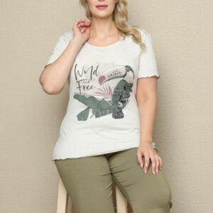 تیشرت و شلوارک زنانه سفید سایز بزرگ