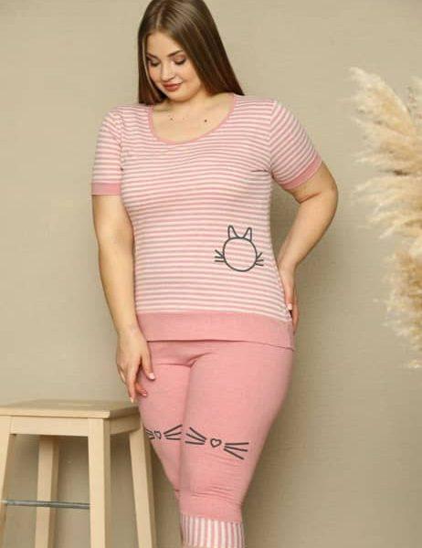 تیشرت و شلوارک زنانه راحتی سایز بزرگ