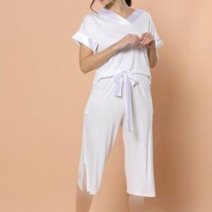 تیشرت و شلوارک زنانه سفید