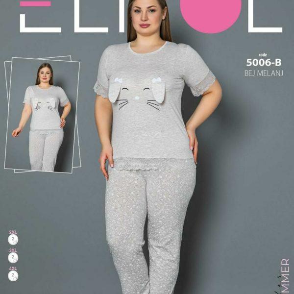 لباس سایز بزرگ زنانه کد5006-B