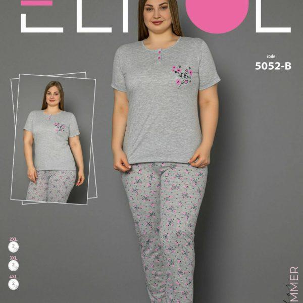 لباس سایز بزرگ زنانه کد5052-B