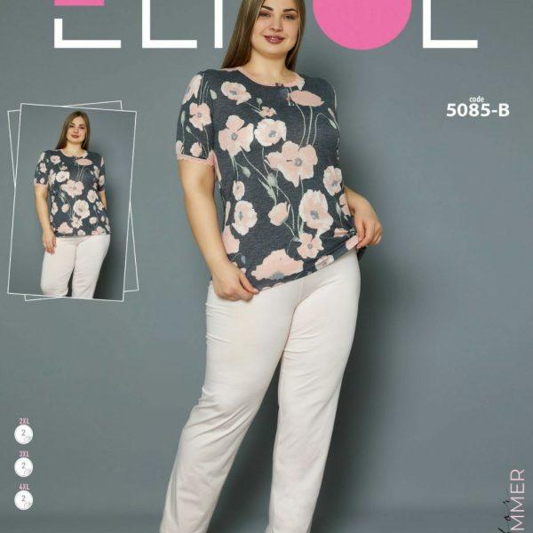 لباس سایز بزرگ زنانه کد5085-B