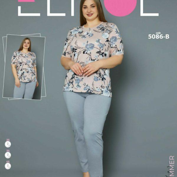لباس سایز بزرگ زنانه کد5088-B