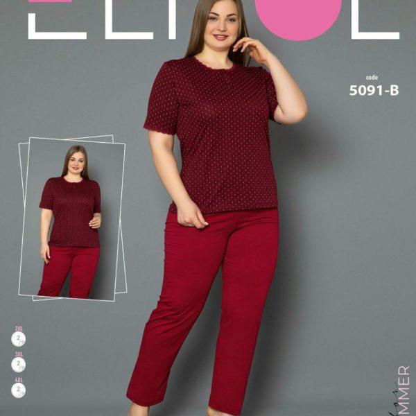 لباس سایز بزرگ زنانه کد5091-B